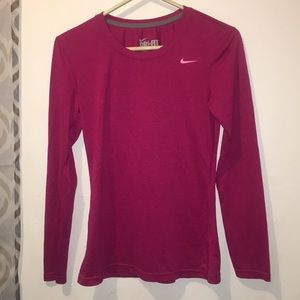 Dark pink Nike Long sleeve shirt